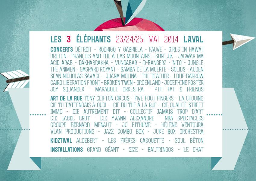 PR Les 3 Eléphants 2014